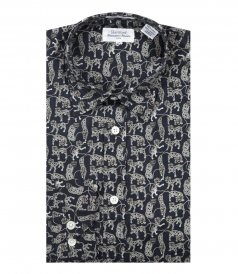 LONG SLEEVED LEOPARDS PRINT SAMMY SHIRT
