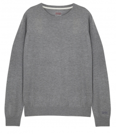 SWEATSHIRTS - LONG SLEEVE CREWNECK WOOL BLEND SWEATER