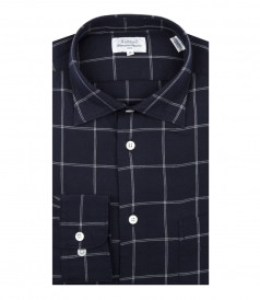 PENN SPREAD-COLLAR CHECKED COTTON SHIRT