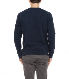 CREWNECK LONG SLEEVED SKI PRINT SWEATER