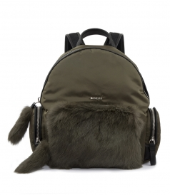 FLORE ZAINO FUR-TRIMMED BACKPACK