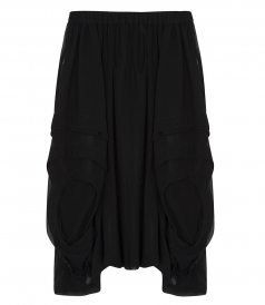 ASYMMETRIC LAYERED GEORGETTE SKIRT