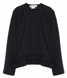 CLOTHES - FRILLED HEM LONG SLEEVE BLOUSE