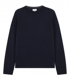 PULLOVERS - LONG-SLEEVED CREWNECK MERINO PULLOVER