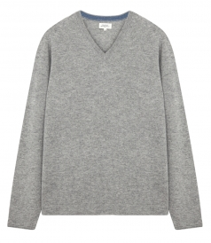 LIGHT CASHMERE BLEND V NECK PULLOVER