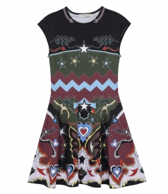 PINTO GRAPHIC COWBOY PRINT DRESS