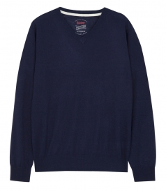 PULLOVERS - CASHMERE BLEND V-NECK KNITTED PULLOVER