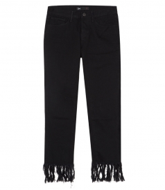 JEANS - CROP FRAY STRAIGHT LEG FRINGE