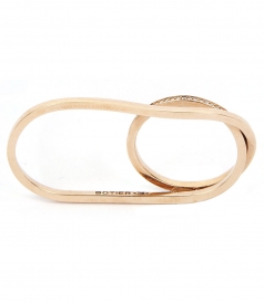 BELLA ROSE GOLD DOUBLE RING
