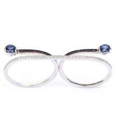 EYES WIDE SHUT WHITE GOLD DOUBLE RING