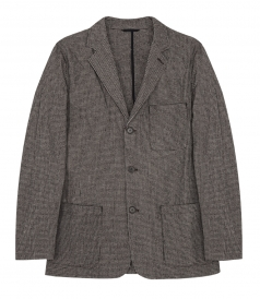 WOOL & COTTON BLEND PIED DE POULE JOB JACKET