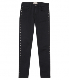 CURRENT/ ELLIOTT - THE STILLETTO SIDE STUDDED  SKINNY JEANS
