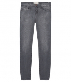THE STILLETTO GREY LEOPARD SKINNY JEANS