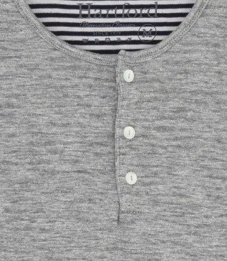 DOUBLE FACE COTTON HENLEY