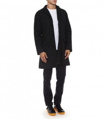 FRONT FLAT BUTTONED OVERCOAT
