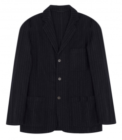 WHITE CHALK STRIPE JOB JACKET
