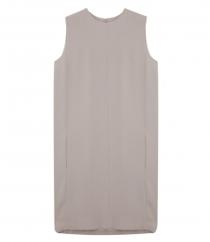 SLEEVELESS KEY-HOLE OPEN BACK SHIFT DRESS