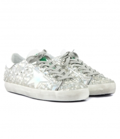 GOLDEN GOOSE  - SUPER STAR SNEAKERS IN LEATHER WITH STAR