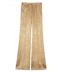 CLOTHES - FLARE LUREX JACQUARD PANTS