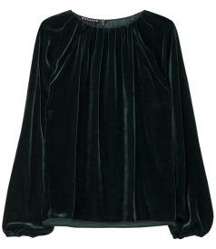 VELOUR LONG SLEEVE SHIRT