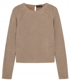 SALES - WOOL BLEND CREWNECK KNITTED PULLOVER