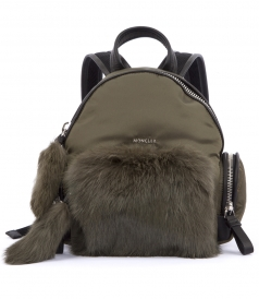 FLORINE ZAINO RABBIT TRIMMED BACKPACK