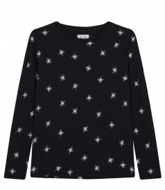 SPIDERS ALL OVER LONG SLEEVE PULLOVER