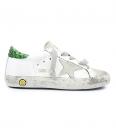 SNEAKERS SUPERSTAR WITH GLITTER COATED HEEL TAB
