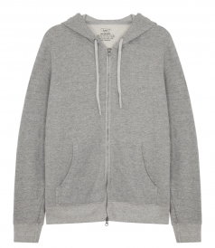 FRENCH TERRY ZIP HOODED SWEATSHIRT