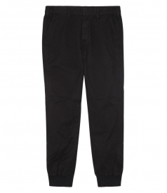 CLOTHES - LIGHT TWILL TROUSER RIB CUFF