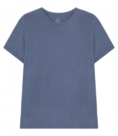 SHORT SLEEVE NAVY HEATHER JERSEY TEE