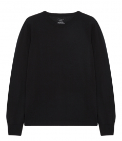 PULLOVERS - COTTON CASHMERE CREW SWEATER
