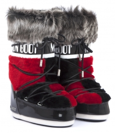 MOON BOOT FUR TRIMMED SNOW BOOTS