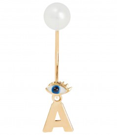 ACCESSORIES - MICRO EVIL EYE EARRING - CHOOSE YOUR INITIAL