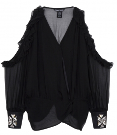 CLOTHES - SUSAN CUT-OUT RUFFLED BLOUSE