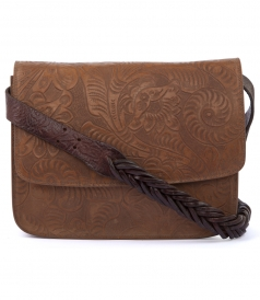 SHOULDER - ELISE CARVED CALFSKIN HANDBAG