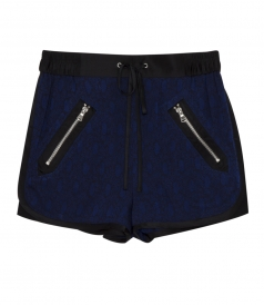 DAMASK FLORAL SHORTS WITH DRAWSTRING