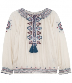 SALES - SINDHI EMBROIDERED VOILE TOP