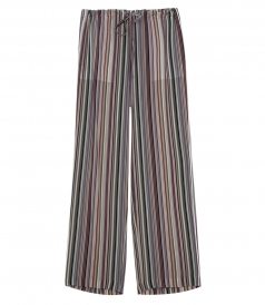 WINSZLEE STRIPED MID-RISE PANTS