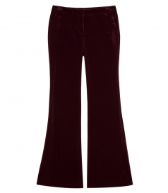 CAROLEENA STRETCH VELVET FLARED PANTS