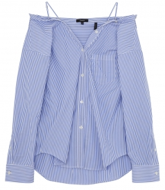 TAMALEE STRIPED OFF-TH-SHOULDER SHIRT