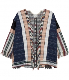 MULTICOLOURED COTTON BLEND WOVEN JACKET
