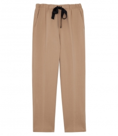 CROPPED TAPPERED SLIM LEG PANTS