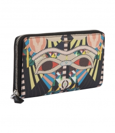 CRAZY KLEOPATRA PRINT ZIPPED WALLET