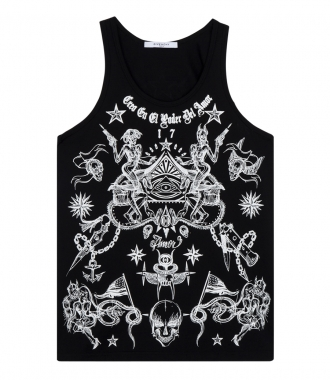TATTOO GRAPHIC PRINTED TANK TOP