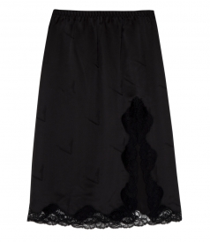 CIGARETTE JACQUARD STRAIGHT CUT SILK SKIRT