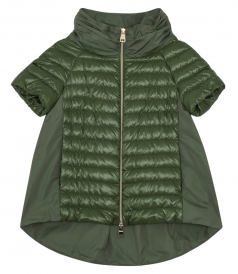 FRONT ZIPPED HIGH NECK PADDED JACKET