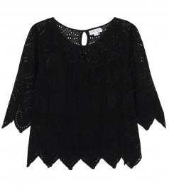 TOPS - BINX EMBROIDERED CHIFFON TOP