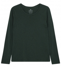 VELVET BY GRAHAM & SPENCER - KILIA COTTON SLUB ROUND NECK TEE