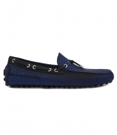 PYTHON LEATHER LOAFER